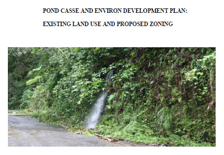Cover of the Land Use Plan for the Pont Casse Area